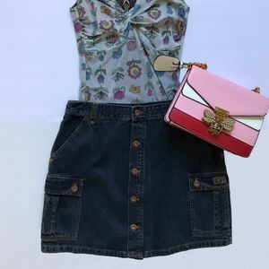 DKNY Denim Cargo Skirt Size 8